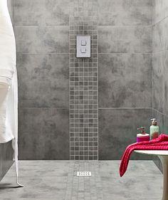 Dark Grey Walls. Light Grey Floor. Mosaic Tiles Zamora™ Grey Wall And Floor