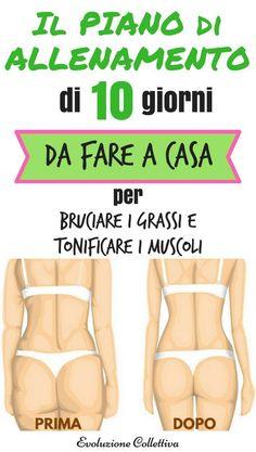 Il piano di allenamento di 10 settimane da fare a casa per bruciare i grassi e tonificare i tuoi muscoli.