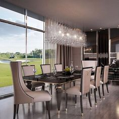 27 Lighting Dining Room Contemporary for Modern House Luxury Dining Tables, Luxury Dining Room, Dining Room Design, Dining Room Furniture, Room Interior Design, Furniture Ideas, Furniture Sale, Luxury Interior, Luxury Furniture