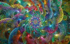 Rainbow Glass Loops Spiral by wolfepaw.deviantart.com on @DeviantArt