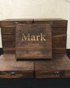 Rustic Cigar Box Groomsmen Cigar Box Best Man by EngraveMyMemories