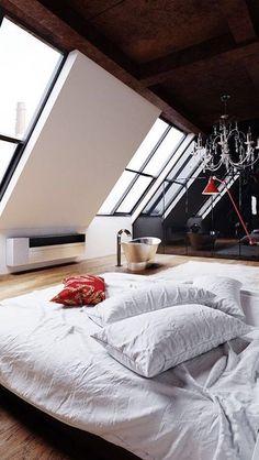A minimalists idea of a bachelor pad.