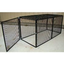 "1"" by 1"" Grid Welded Wire Kennel with 'No Climb' Top Panels Size: Extra Large (72"" H x 36"" W X 108"" L)"