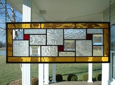 Stained+Glass+Window+Panel+with+Ambers+&+Reds+by+TheGlassShire,+$68.00