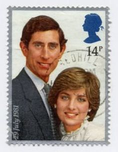 Royal Wedding Stamp Prince Charles and lady Diana Spencer