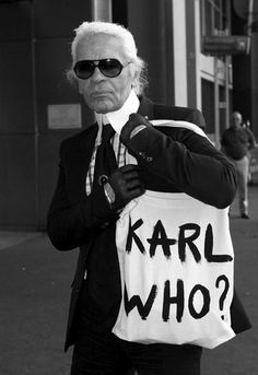 Karl Lagerfeld is funny too? Who knew.