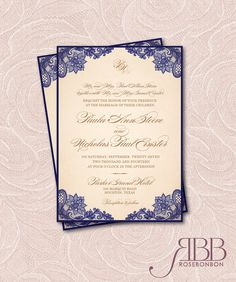 Printable Wedding Invitation Set  Vintage lace by RoseBonBonShop, $33.00
