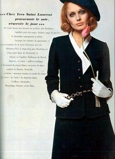 1967 - YSL suit in Vogue Paris