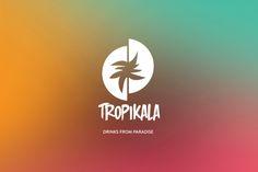 More Tropical Logo design. TROPIKALA Drinks branding design on Behance