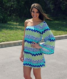 Miss Zag One Shoulder Dress