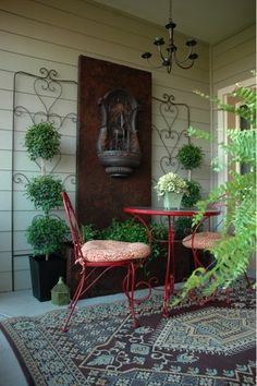 Garden Designers Roundtable - love this idea for my side porch