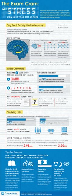 The Impact of Stress on Test Scores #Infographic