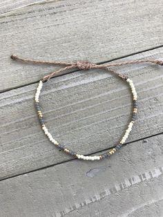 Earth tone Seed bead bracelet, adjustable bracelet, Seed Bead Necklace, Seed Bead Jewelry, Beaded Jewelry, Handmade Jewelry, Diy Jewelry, Jewelry Findings, Seed Bead Bracelets Diy, Diy Bracelets With String, Diy Necklace Bracelet