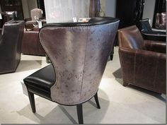 Leather embossed chair from Hooker Furniture