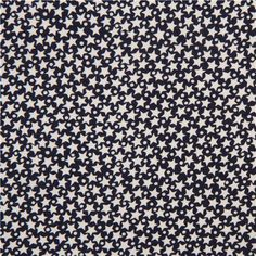 navy blue Timeless Treasures stars fabric from the USA
