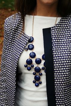 touches of blue in business casual attire!