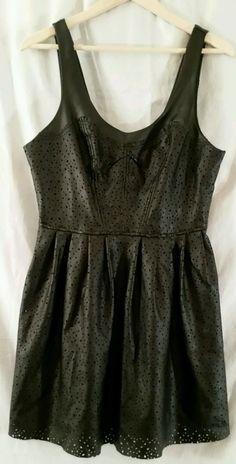 Silence + Noise NWT Faux Leather 100% Polyester Sleeveless Mini Dress Size 10 #SilenceNoise #Blouson #Cocktail