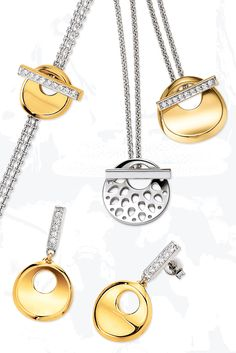 Außergewöhnliche Designs in Hochglanz poliertem Sterling Silber, auch vergoldet erhältlich.
