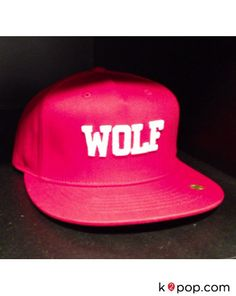 K2POP - SMTOWN POP-UP STORE EXO OFFICIAL GOODS - 'WOLF 88' SNAPBACK (RED)