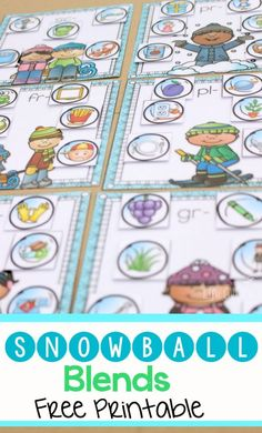 TEACH YOUR CHILD TO READ This free word work printable for practicing beginning blends is simply adorable! I love how the kids can match the snowballs to the different winter pictures! Super Effective Program Teaches Children Of All Ages To Read. Phonics Blends, Blends And Digraphs, Phonics Activities, Reading Activities, Work Activities, Teaching Phonics, Winter Activities, Therapy Activities, Therapy Ideas