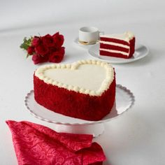 Junior's Cheesecake Red Velvet Heart Layer Cake