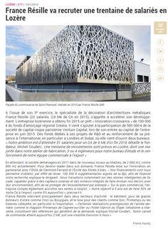 #Lozère #Eco #Emploi France Résille va recruter une trentaine de salariés