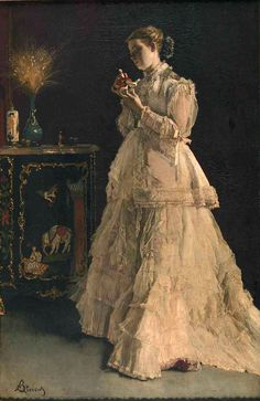 Alfred Émile Léopold Stevens: The Lady in Pink