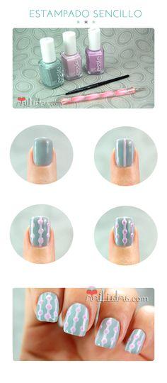 Easy nail art // retro inspiration pattern