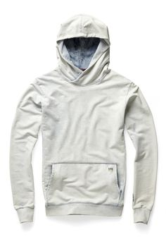 Hooded sweat with patch kangaroo pockets and forward-positioned side seams. The hood crosses at the neck. www.g-star.com