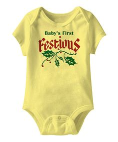 Look at this Banana 'Baby's First Festivus' Bodysuit - Infant on #zulily today!