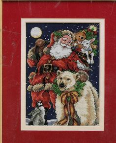 Beloved Santa Cross Stitch Kit Dimensions Gold Collection Petites 8676  #Dimensions #Background