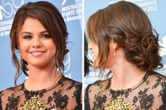 Selena Gomez :) she looks so natural and pretty with this make-up and hairstyle :)