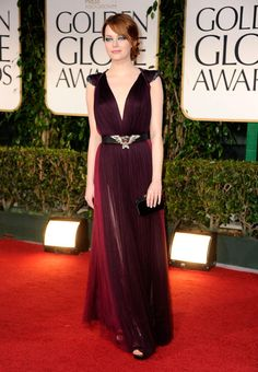 Golden Globes: Emma Stone in Lanvin #fashion