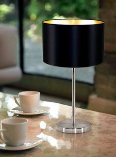 Black Gold Bedroom Luxury table Lamp made of black Modern Light Fixtures, Modern Lighting, Lighting Ideas, Black Gold Bedroom, Luxury Table Lamps, Grande Lampe, Luminaire Led, Residential Lighting, Black Gold Jewelry
