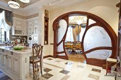 Фото интерьера кухни дома в стиле модерн