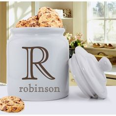 Cookie Jar - Family Designs - Family Initial