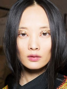 Sequin eyes at Temperley London A/W '15.