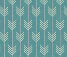 arrow_marine fabric by holli_zollinger on Spoonflower - custom fabric