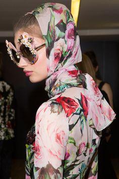 Milan van Eeten backstage at Dolce & Gabbana Spring...