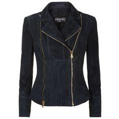 Balmain Suede Biker Jacket ($3,665) ❤ liked on Polyvore featuring outerwear, jackets, balmain, suede biker jacket, rider jacket, moto zip jacket and moto jacket