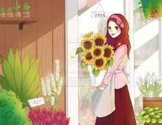 Shared by Naz. Find images and videos about flowers and muslim on We Heart It - the app to get lost in what you love. Love Cartoon Couple, Girl Cartoon, Muslim Images, Hijab Drawing, Islamic Cartoon, Hijab Cartoon, Islamic Girl, Islamic Pictures, Muslim Pictures