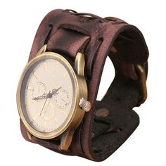 Retro Punk Leather Analogue Watch