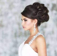 high updo with fringe that can have a headband