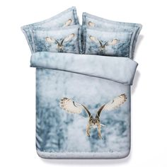 ==> [Free Shipping] Buy Best 4PCS/Set/Lot Queen Owl bedding set 3D quilt duvet cover adult for twin bed sheet bedspreads kids California king designer brand Online with LOWEST Price   32736653126