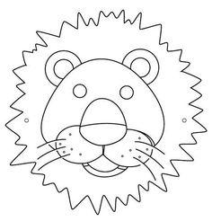 Recortables De Máscaras De Animales Para Colorear. Descarga Gratis