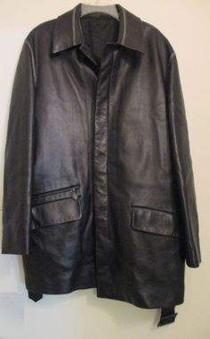 100% Authentic HERMES Lambskin Leather Jacket With Belt Size 44/54 $8K #HERMES #Jacket