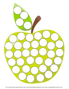 Preschool Do a Dot Printables: A is for Apple