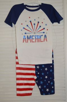 Patriotic New CAT & JACK Boys  Tight Fit 2 Pc Pajama Set Size 6 FROM TARGET  #CATJACK #PajamaSet