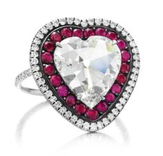 A Ruby and Diamond Heart Ring, by JAR
