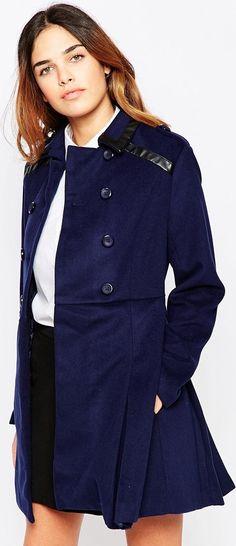 Abrigo holgado de The Laden Showroom X Mirror Mirror asos el-azul ... 656d99ed4247